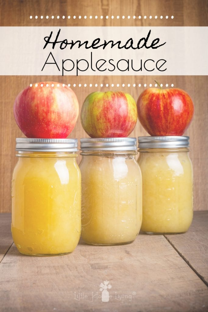 Have some extra apples this year and want to preserve the abundance? Canning Applesauce is quick and easy and the final product tastes so delicious! #canning #preserving #applesaucerecipe #canningapplesauce #homemadeapplesauce