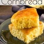 Looking for a delicious recipe for cornbread? Look no further! This super simple recipe will make your taste buds happy. #cornbread #recipeforcornbread #buttermilkcornbread