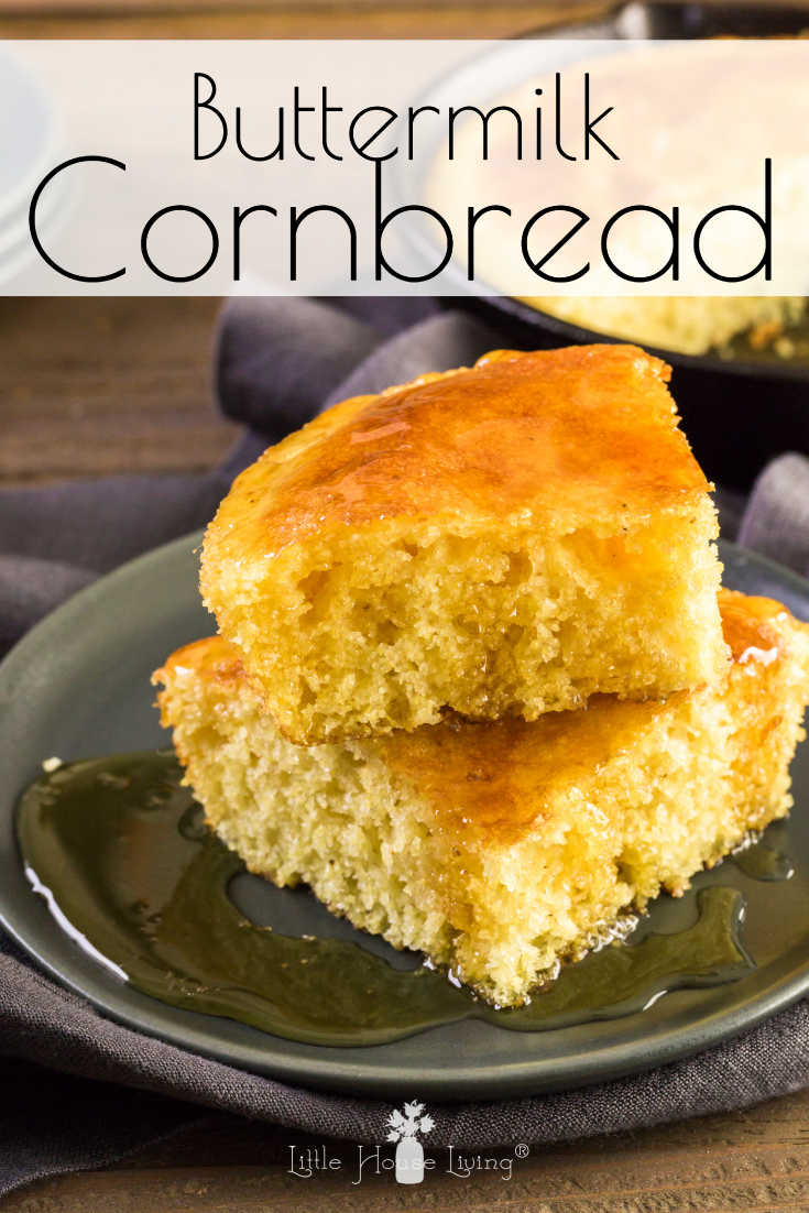 Looking for a delicious recipe for Buttermilk cornbread? Look no further! This super simple recipe will make your taste buds happy. #cornbread #recipeforcornbread #buttermilkcornbread