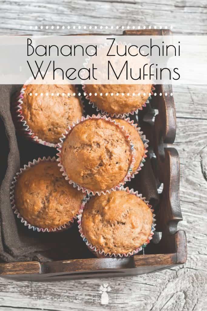 Banana Zucchini Wheat Muffins