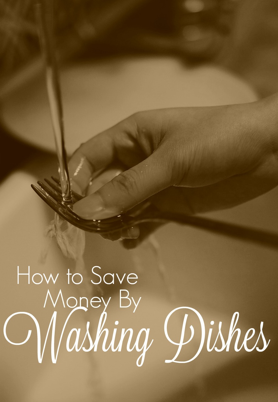 Need a new way to save money? Have you ever thought about how much you can save while doing your dishes?