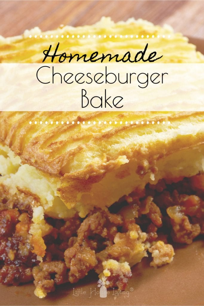Looking for a delicious meal that the whole family will love and that you can make from scratch? This Cheeseburger Bake recipe is the perfect fix! #cheeseburgerbake #cheeseburger #easydinner