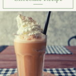 Looking for a nice cold drink to make on warm days? This super simple Frozen Hot Chocolate recipe only uses things that you probably already have in your pantry.
