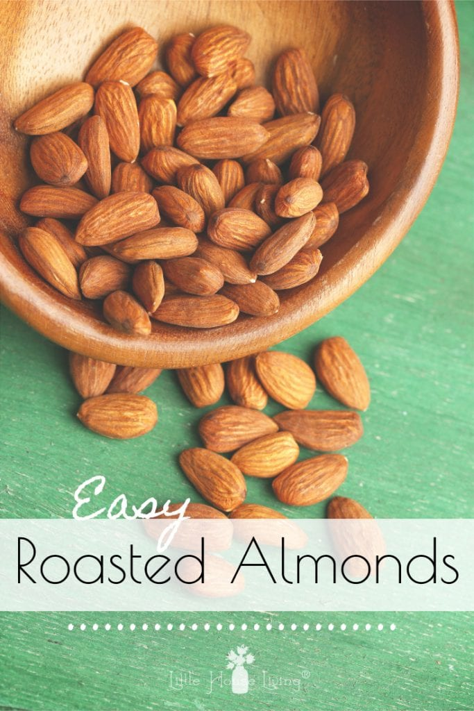 Are you looking for an easy snack idea? Just a few minutes and you can have a healthy and tasty snack with these two easy to make recipes for Roasted Almonds. #almonds #roastedalmonds #howtoroastalmonds #glazedalmonds