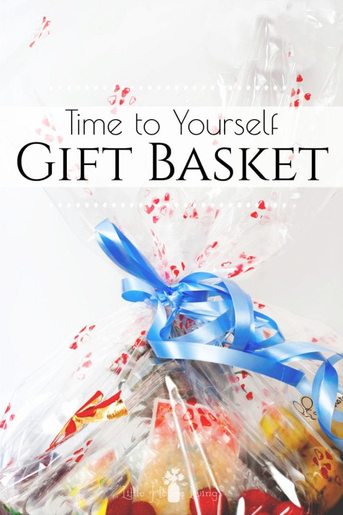 Do you know someone who could use a Treat Yourself Gift Basket? Learn how to easily put together the perfect homemade gift for a new mom, or just an overworked friend! #treatyourself #giftbasket #diygiftbasket #timetoyourself #frugalgift #homemadegift