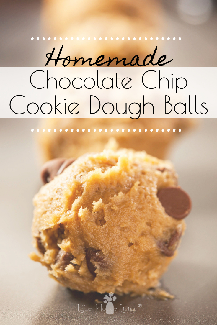 Need a sweet treat to make for a party or just an afternoon snack? These Chocolate Chip Cookie Dough Balls are the perfect delicacy for you and all of your cookie dough loving friends! #cookiedoughballs #cookiedoughdessert #cookiedoughtreat