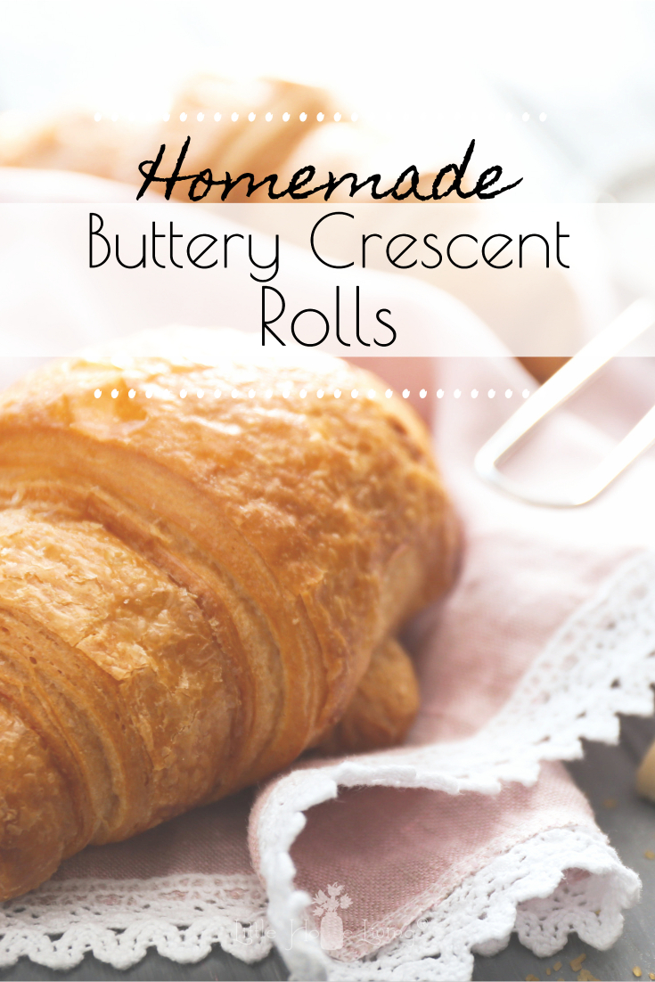 Have you ever dreamed about making your own homemade buttery crescents for your family to enjoy with breakfast or supper? It's much easier than you think! #homemadecrescents #crescentrolls