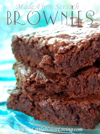 Made From Scratch Brownies - Little House Living
