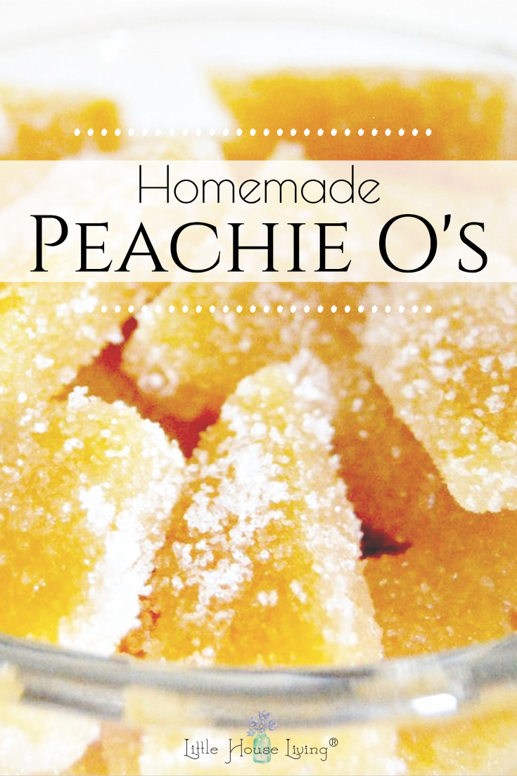 "Looking for a sweet little afternoon snack? These Peach Gummies are a tasty little treat. Add one extra ingredient and you've got the same ""Peachy O's"" like you'd find in the candy aisle at the store!"