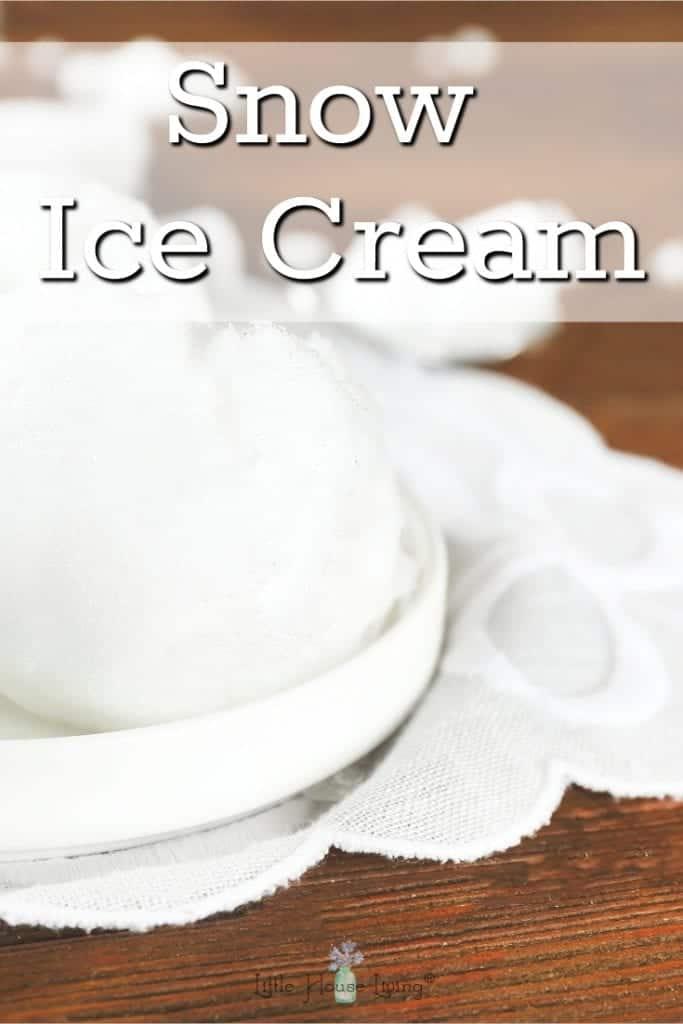 Snow Ice Cream
