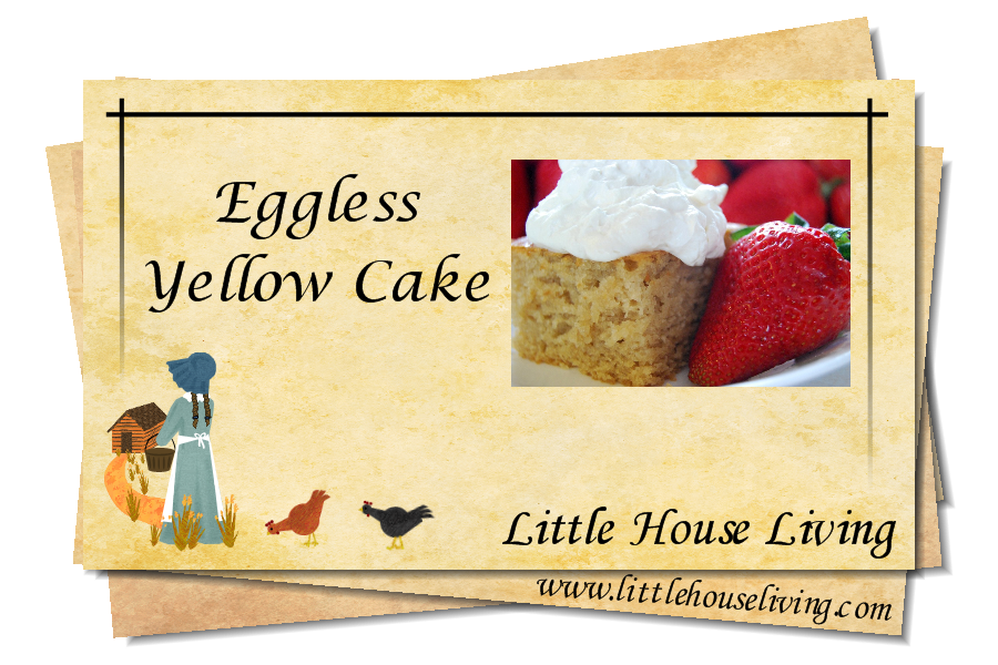 Recipe for Eggless Cake