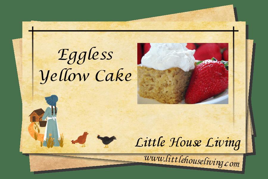 Recipe for Eggless Cake