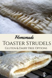 Want to make your own homemade Toaster Strudels? This recipe will show you how to make this easy grab-and-go breakfast! It also features dairy and gluten free alternatives so just about anyone can make them. #toasterstrudels #homemadetoasterstrudels
