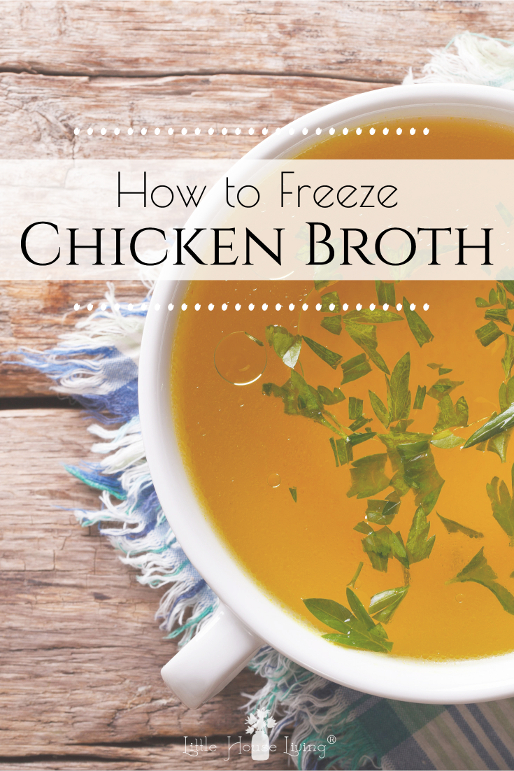 Are you always in need of chicken broth for a recipe or maybe you've wondered can you freeze chicken broth? Here's how I've been freezing chicken broth for years!
