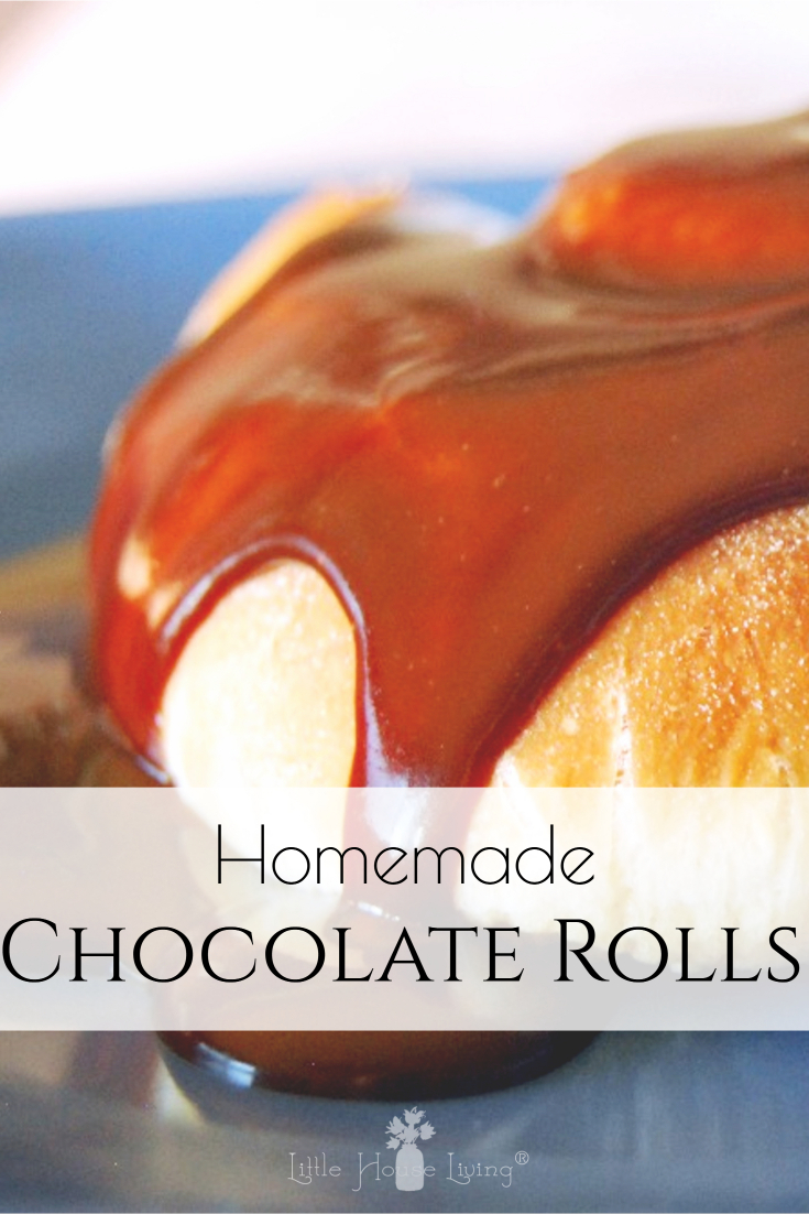 These Chocolate Caramel Rolls are a warm and delicious treat, perfect for breakfast or dessert any time of year! #chocolatecaramel #breakfast #dessert #fromscratch