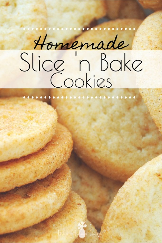 Make your own slice and bake cookie dough to store in the freezer and pull out when you want fresh cookies but don't want to mix them up! #sliceandbake #sugarcookies #sliceandbakecookies #sugarcookierecipes #freezerfriendly #freezercookiedough