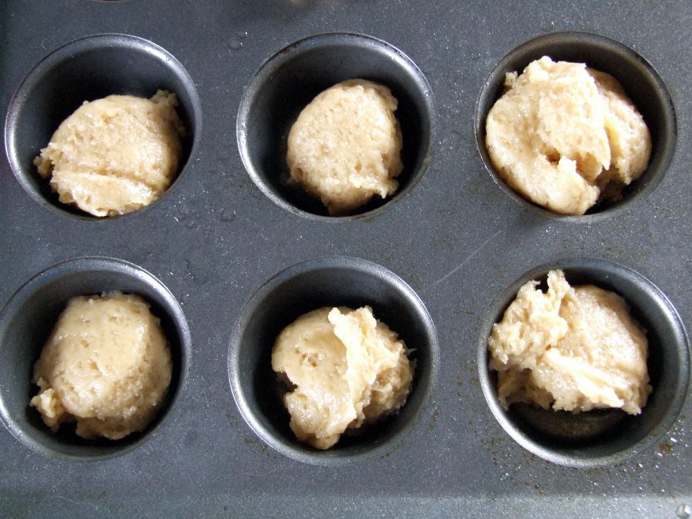 mini muffins in a tin