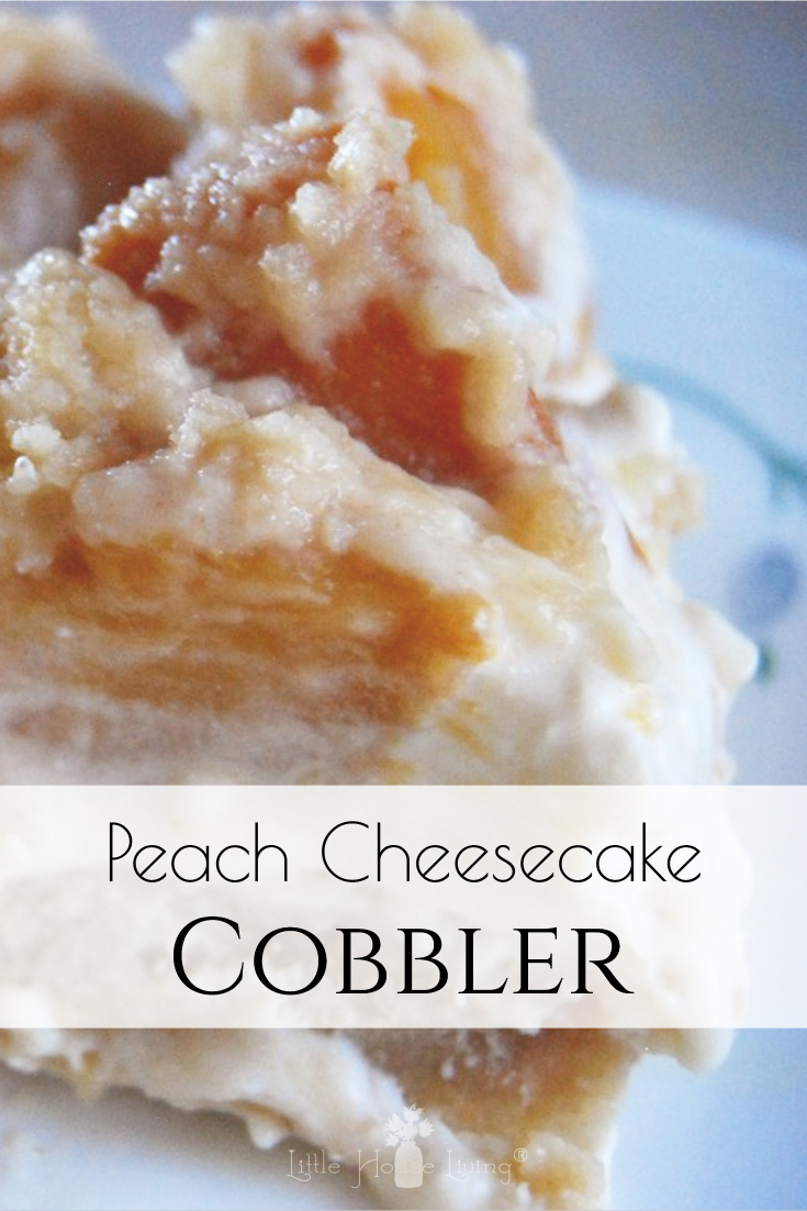 Need a yummy dessert to use peaches in? This easy Peach Cheesecake Cobbler could not be any simpler!