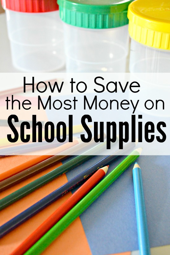 How to save the most money on back to school supplies