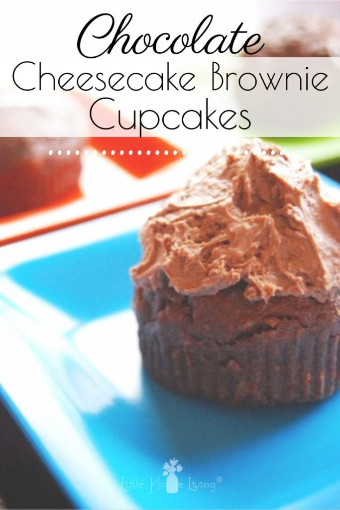 Need a sweet treat but can't decide between cheesecake or brownies? These Cheesecake Brownie Cupcakes are the best of both worlds! #cheesecakebrowniecupcakes #cheesecake #brownies #cheesecakebrownie #chocolatecupcakes