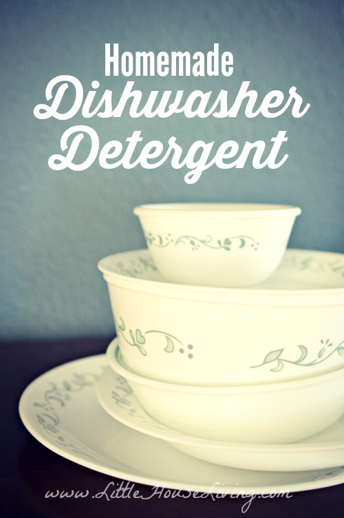 Homemade Dishwasher Detergent - Little House Living