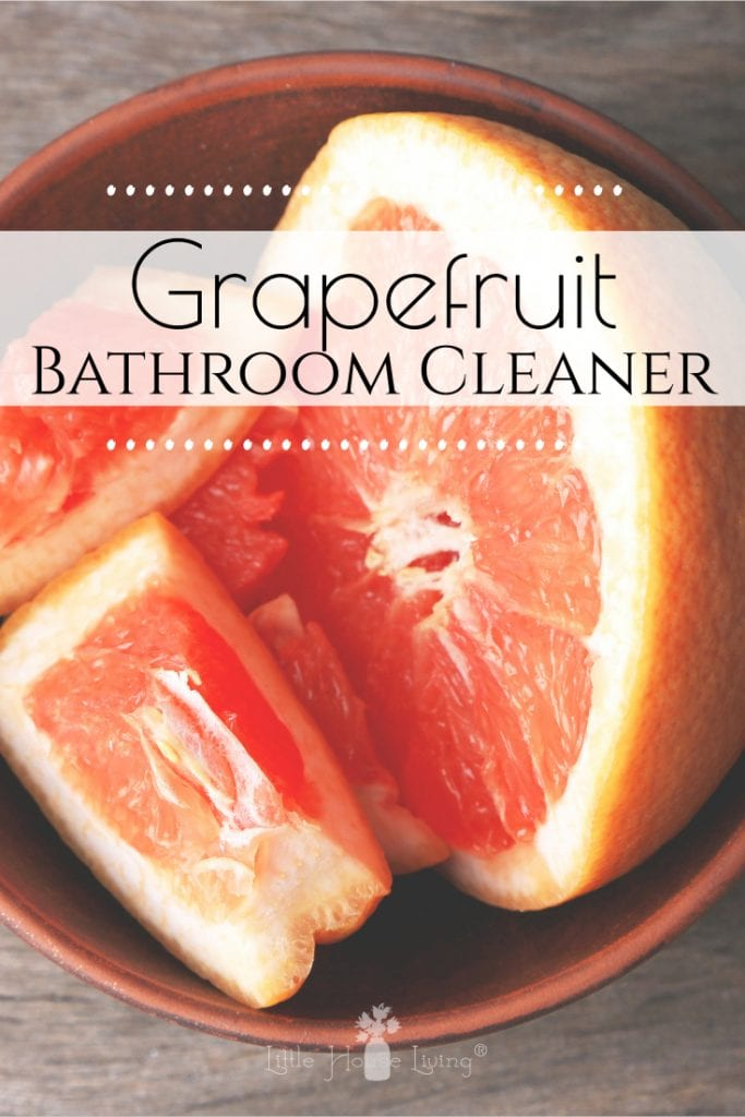 If you're looking for a simple bathroom cleaner, you need to try this homemade grapefruit cleaner. It just takes two all-natural, non-toxic ingredients to make your bathroom look and smell fresh and clean! #grapefruitcleaner #diybathroomcleaner #grapefruit #nontoxic #allnatural