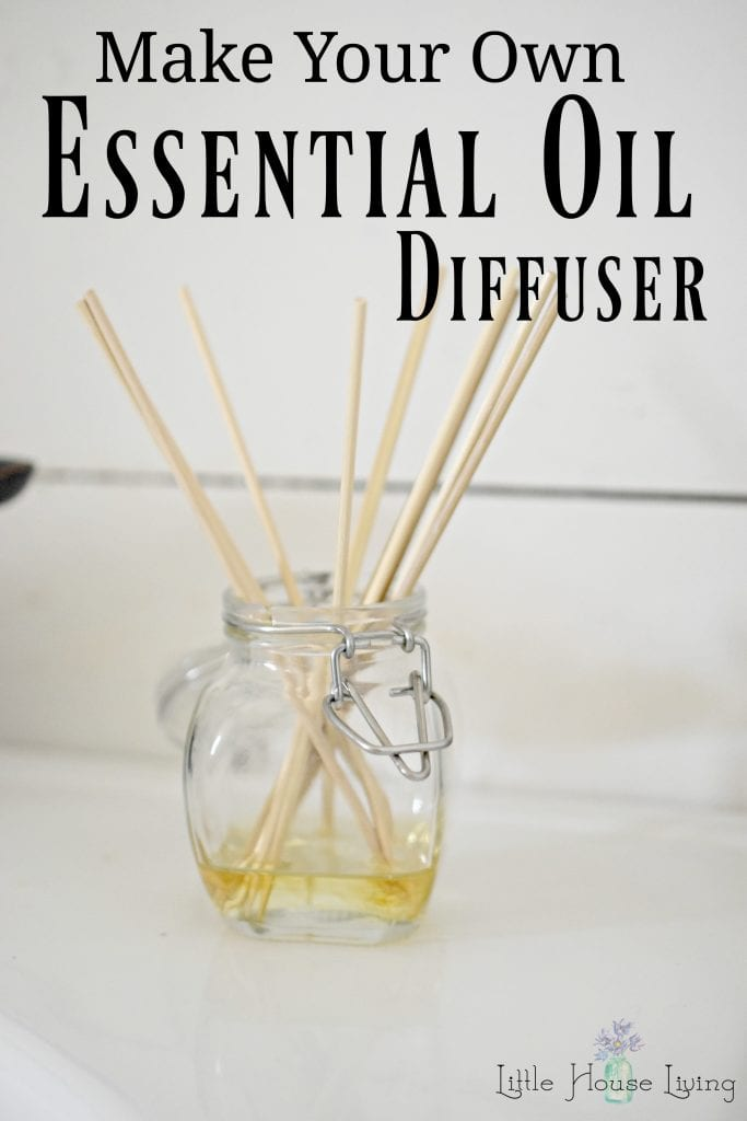 Easily make your own essential oil diffuser in minutes with what you already have on hand! #makeyourown #essentialoils #diydiffuser #reeddiffuser