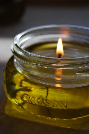 Post image for Olive Oil Candles