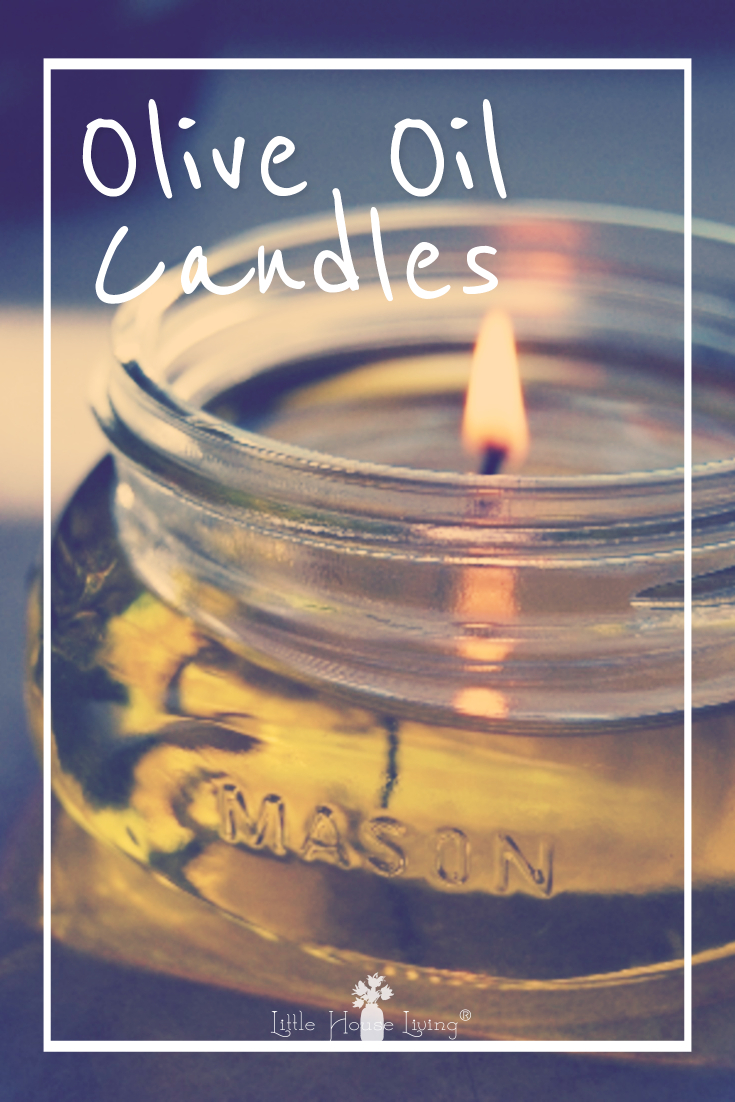 Ever wanted to create your own candles at home but don't have any wax? This tutorial for Olive Oil Candles is a fun project. #makeyourown #homemadecandles #makeyourowncandles #oliveoilcandles #candles #diycandles #frugalcandlemaking #candlemaking #easycandlemaking
