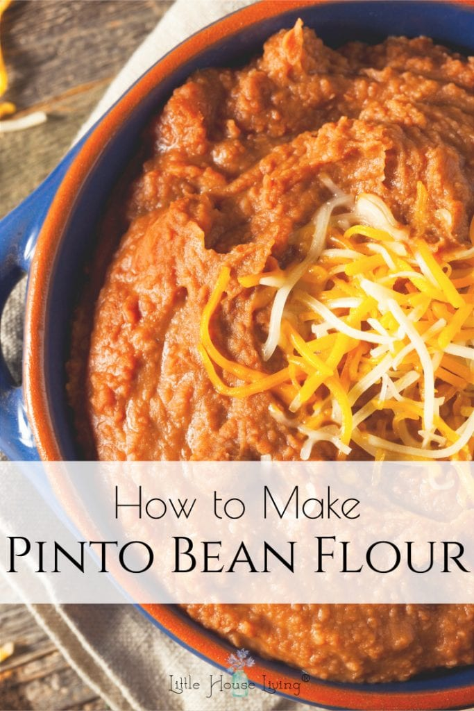 How to make and use pinto bean flour, homemade from beans, and what to use it for in recipes like, Homemade Cream of Mushroom, Chicken, Celery Soup. #homemadeflour #beanflour #glutenfree #allergenfriendly #pintobeanflour