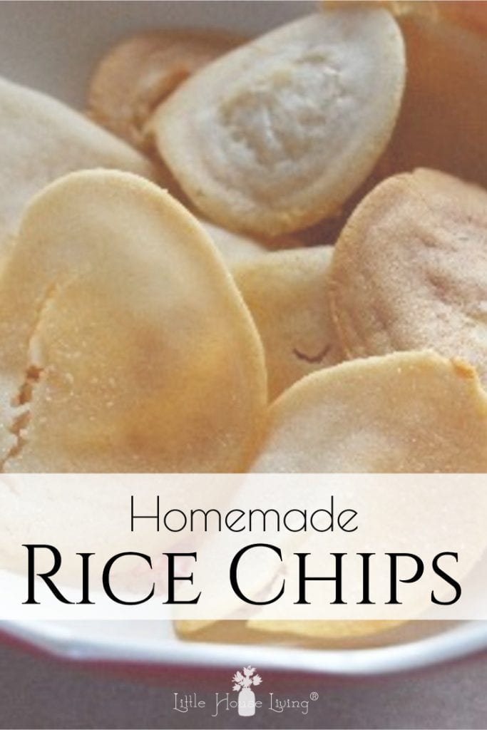 Specialty foods can be hard when you are on a budget and have allergies. Learn how to make your own corn-free and gluten-free rice chips with this tutorial for Homemade Rice Chips recipe. Inexpensive and easy to make! #allergenfriendly #cornfree #glutenfree #ricechips #homemadechips
