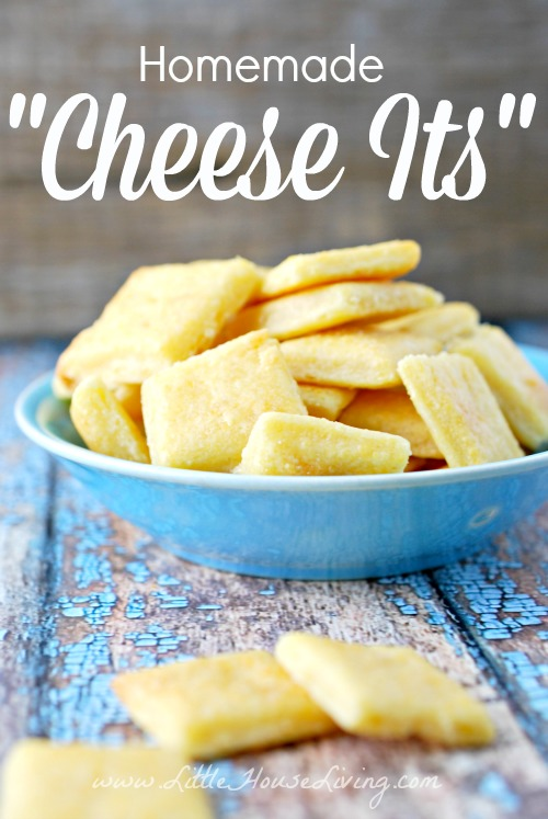 Homemade Cheese It Crackers - Little House Living