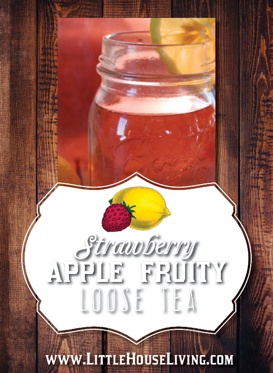 Delicious Strawberry Apple Fruity Loose tea that you can make at home!