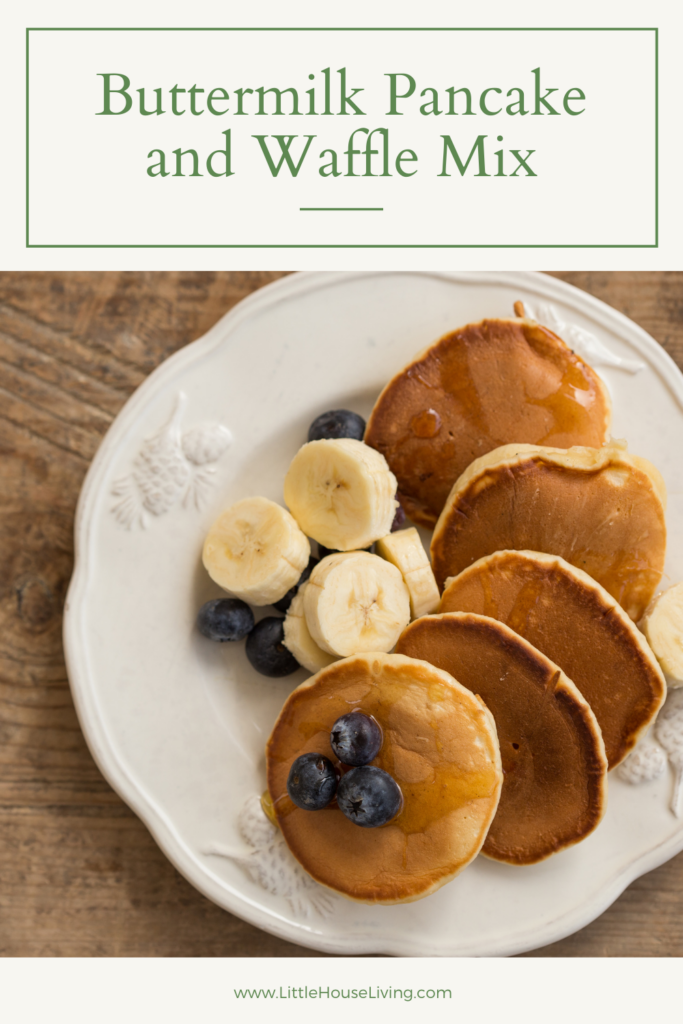 Looking to make a big mix of Buttermilk Pancake and Waffle mix that you can keep on hand? This is the perfect recipe!