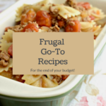 Don't think you can make any filling recipes with what you have at home? These are my frugal go-to recipes that I can use to stretch almost any amount left at the end of my food budget!