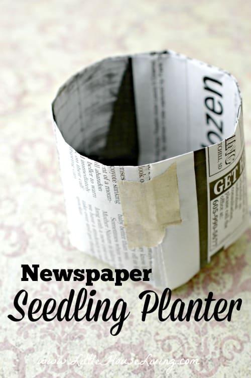Newspaper Seedling Planter - Little House Living