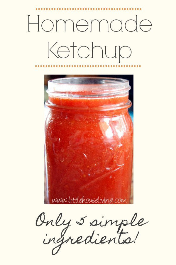 Make your own homemade ketchup with just 5 ingredients you already have! #ketchup #ketchuprecipe #homemadeketchup #homemadeketchupwithfreshtomatoes #homemadeketchupeasy