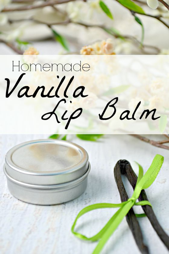Homemade Vanilla Lip Balm Recipe