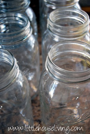 Clean Canning Jars for Potatoes