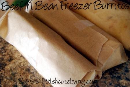 Freezer Beef N Bean Burritos