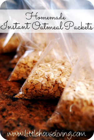 Homemade Instant Oatmeal Packets - Little House Living