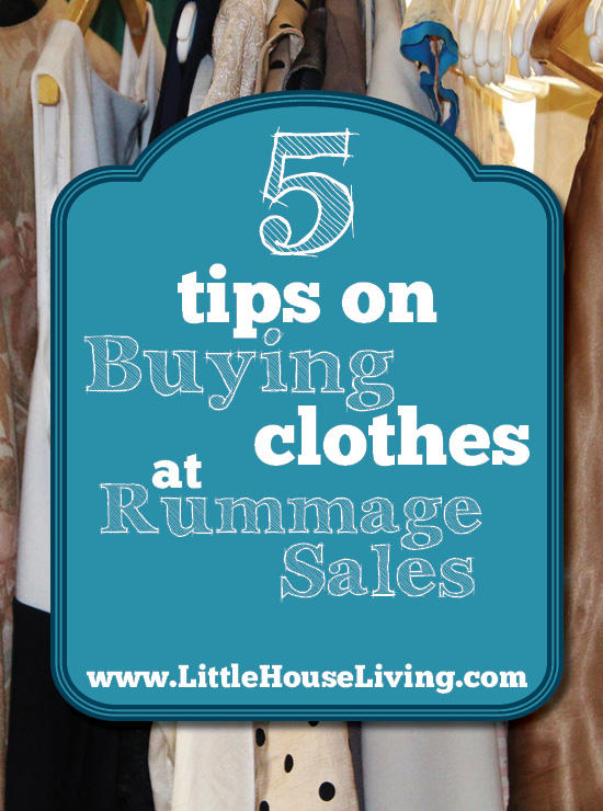 How to shop for clothing at rummage and yard sales!