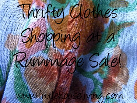 Shopping for Frugal Clothing at Rummage Sales