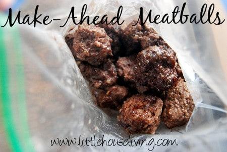 Make Ahead Meatballs