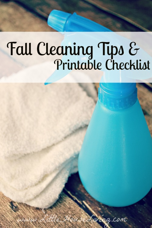 Fall Cleaning Tips - Little House Living