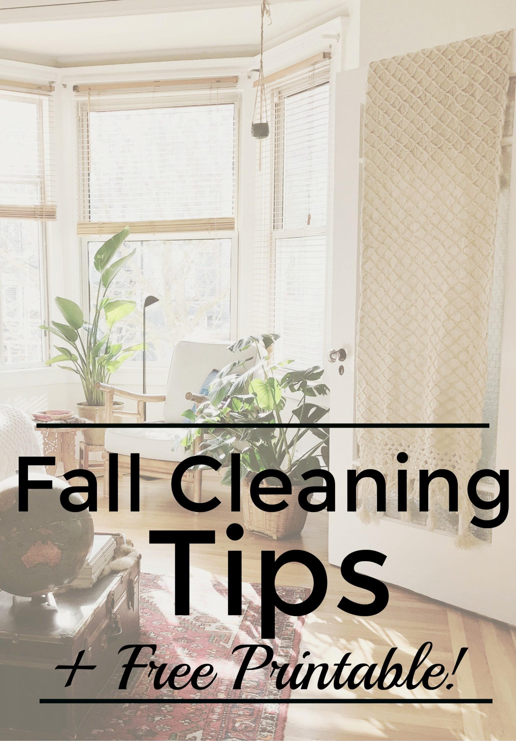 Fall cleaning tips, homemade cleaner recipes, plus a free printable to help you get things DONE! #fallcleaning #fallcleaningchecklist #fallcleaninglist #fallcleaningandorganizing