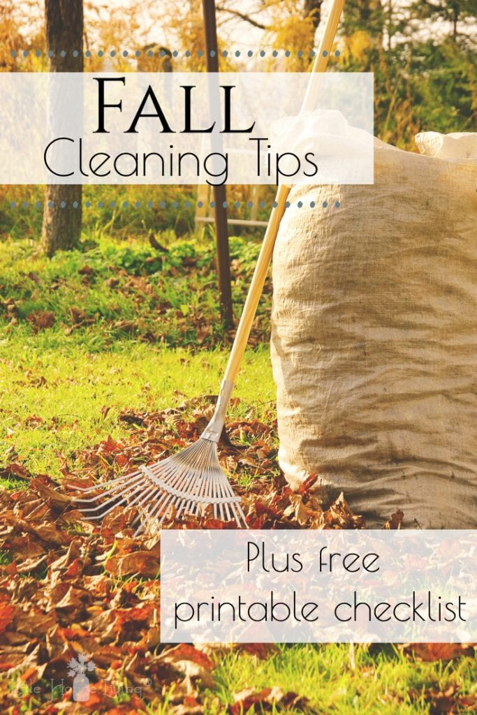 Check out this list of fall cleaning tips! Includes homemade cleaner recipes, plus a free printable checklist to help you get things DONE! #fallcleaning #fallcleaningandorganizing #fall #cleaningtips #fallcleaningtips #seasonalcleaningchecklist #fallcleaningchecklist #freeprintable #cleaningchecklist