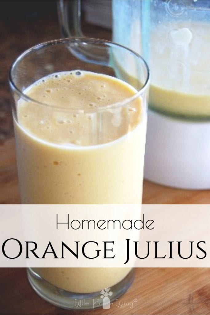 Do you love the taste of Orange Julius? Learn how to make a homemade orange Julius so that you can enjoy an all-natural version of this delicious drink or smoothie! #homemadeorangejulius #allnaturalorangejulius #orangejulius #smoothierecipes #yummy #smoothies