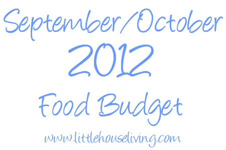 Post image for Food Budget September/October 2012
