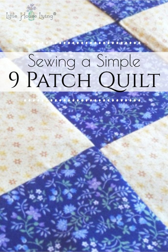 Have you ever wanted to quilt? Learn how to put together a Simple Patch Quilt with this simple tutorial. This is a perfect project for you and your kids to work on together! #quilting #9patchquilt #patchquilt #simplesewingprojects #freepattern